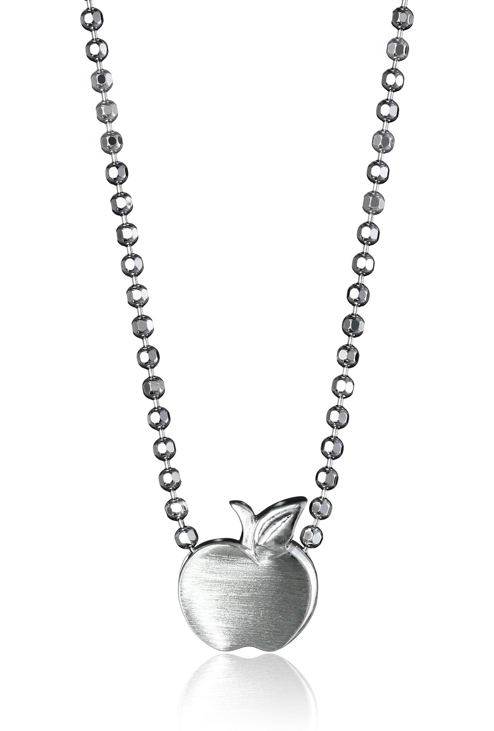 Alex Woo Little Apple in Sterling Silver Pendant Necklace, 16'' by Alex Woo