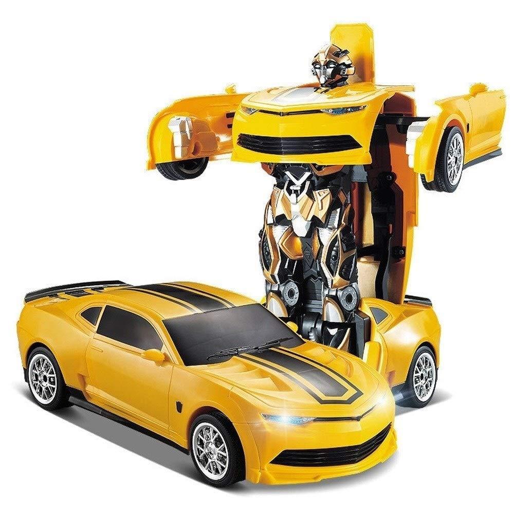 Poooc Fernbedienung Auto Kinder Toys transformatoren Roboter rc dual modi 360 ° Rotation Stunt Cars mit Wand Klettern Funktion elektrofahrzeug für Jungen mädchen Kinder 2,4 ghz blau groß und & Ostern
