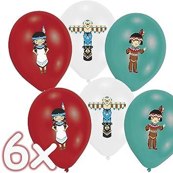 6 globos * Tipi & Tomahawk * como decoración para cumpleaños ...