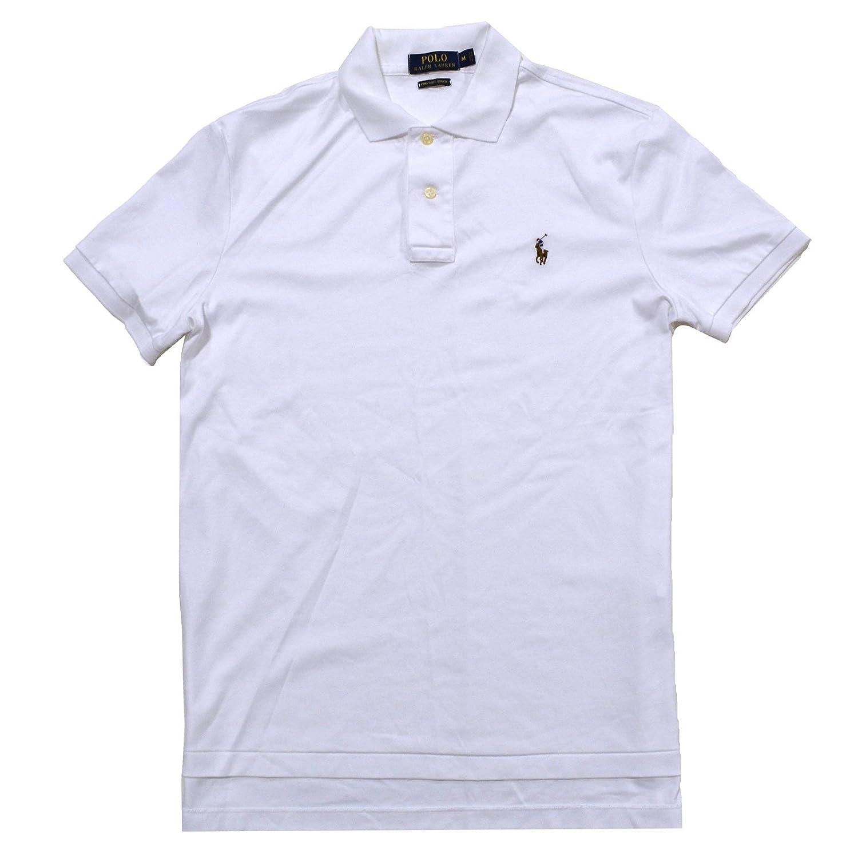 Polo Ralph Lauren Hombres Camisa Acanalada Ajuste Suave al Tacto ...
