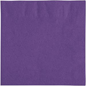 Amscan Purple Beverage Napkins 50/pkg