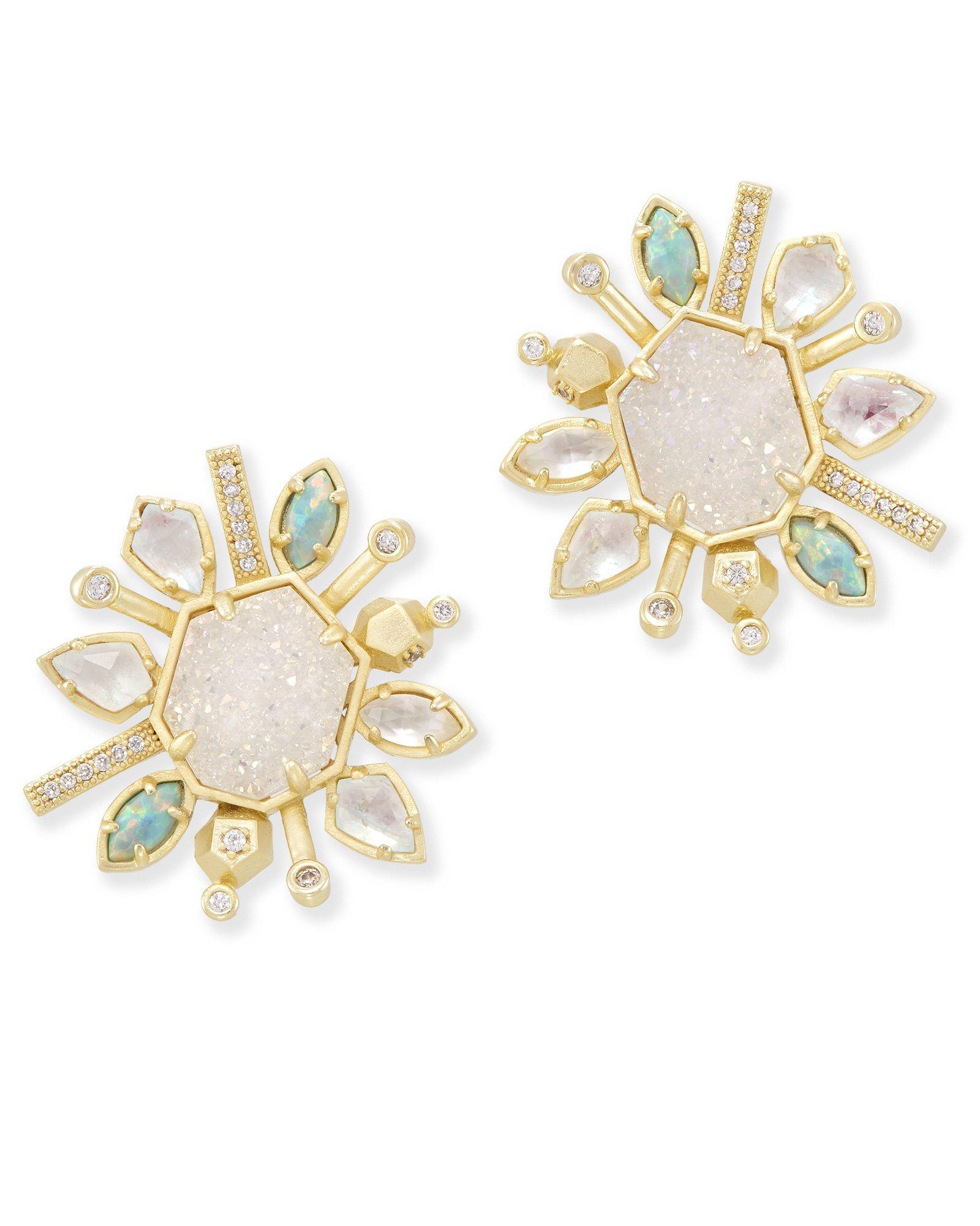 Kendra Scott Women's Ophelia Earrings Gold/Haven Colorway Earring