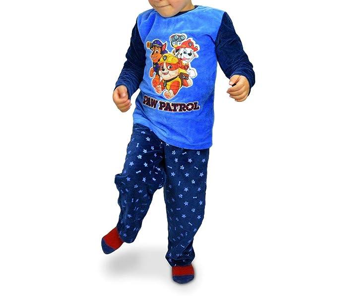 1789 Pijama de terciopelo para niños con motivo de la Patrulla Canina 3 a 6 años