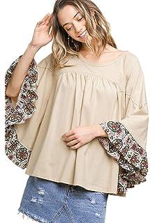 Amazon.com: Camiseta tipo túnica/blusa elegante ...