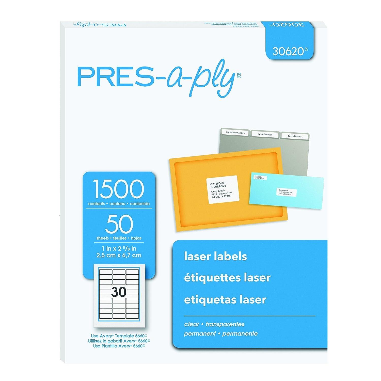 Avery 30620 Transparente etiqueta de impresora - Etiquetas de ...
