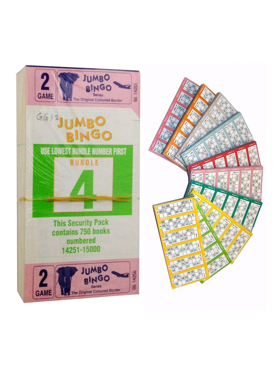 Kelly's Eye Jumbo Bingo Book 6TV 2 Page (750 tickets) Kellyseye
