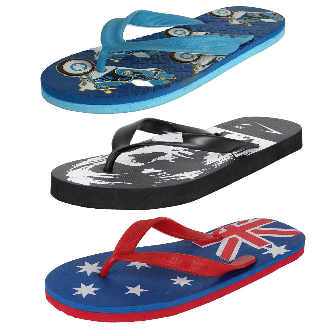 8d844c88dc6cb Earton Men Combo Pack of 3 Flip-Flops   House Slippers  Amazon.in  Shoes    Handbags