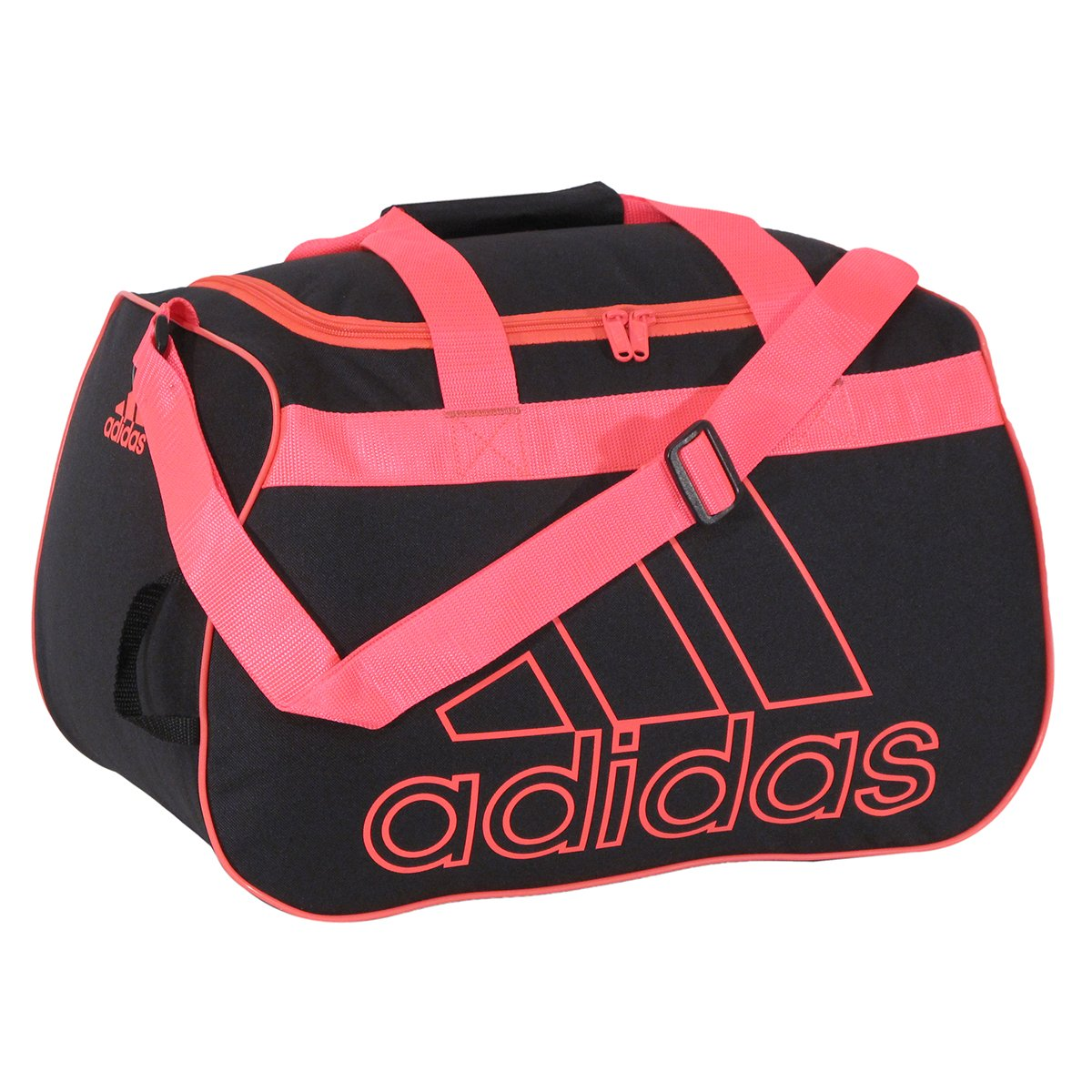 adidas Diablo Small Duffel Bag, Black/Pink Zest, One Size
