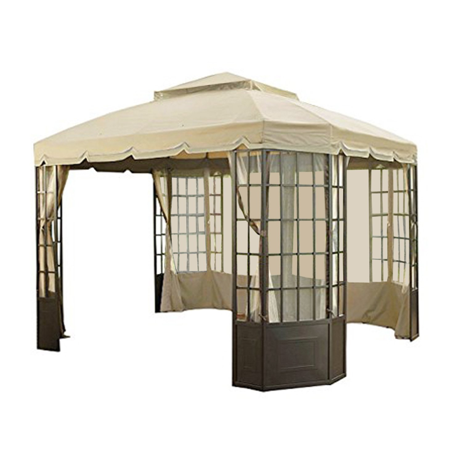 Garden Winds Replacement Canopy Set for the Sears Bay Window Gazebo, with Ultra Stitch and Dura Pockets LCM438BREV