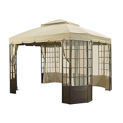 garden winds replacement canopy for sears bay window gazebo riplock 350 performance fabric - Garden Winds Gazebo
