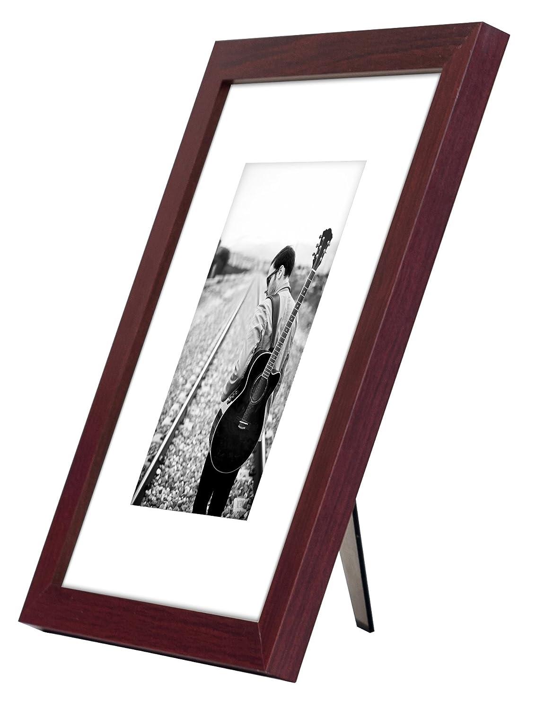 8 x 10 mahagoni Holz Bilderrahmen – Made To Bilder 5 x 7 mit Matte ...
