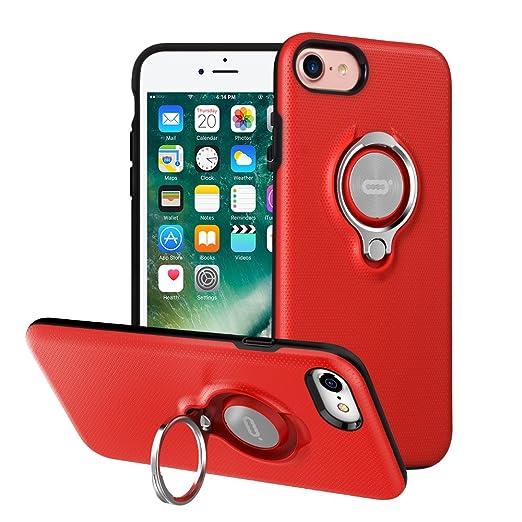 5 opinioni per Custodia per iPhone 7 con Anello da Kickstand da ICONFLANG, Custodia Girevole a
