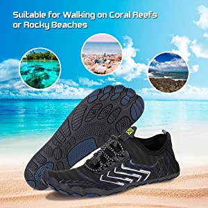 Surfing Fishing Yoga Swimming Water Shoes Mens Womens Beach Quick Dry Swim Barefoot Shoes Aqua Sock Outdoor Athletic Pool Shoes for Kayaking
