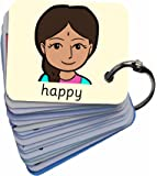 Feelings & Emotions 101 Sofia Picture Exchange Communication Keyring (Autism / AAC / ASD) Visual Aid Resource