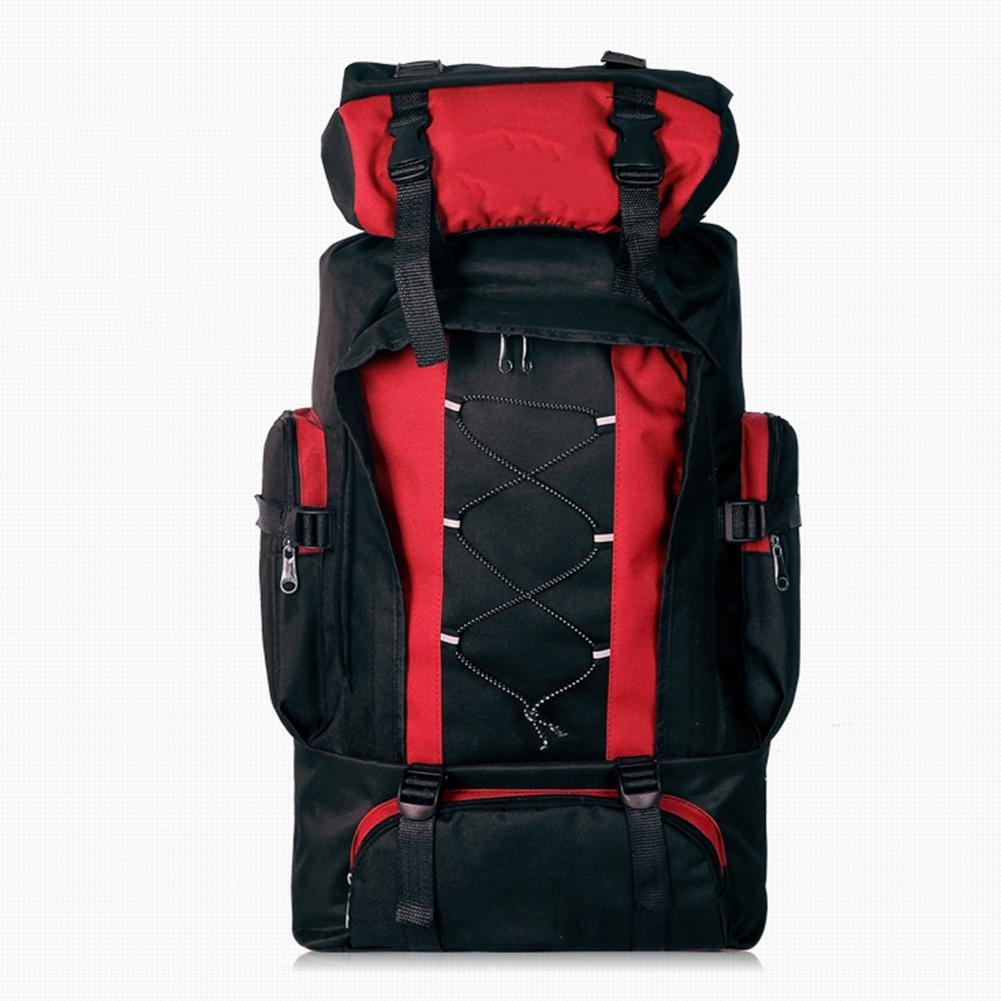 CHENGREN Doppelte Bergsporttasche im Freien Multifunktionale Tasche große Kapazität praktisch und bequem Unisex-Camping-Paket, ROT