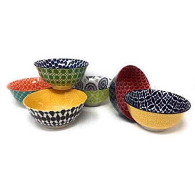 Certified International Chelsea 6 Ceramic Bowls (Green New)