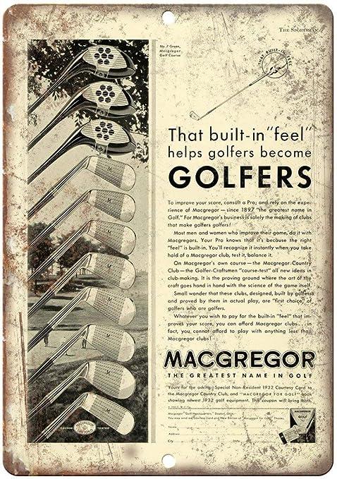 Shunry Macgregor Golf Clubs Placa Cartel Vintage Estaño ...