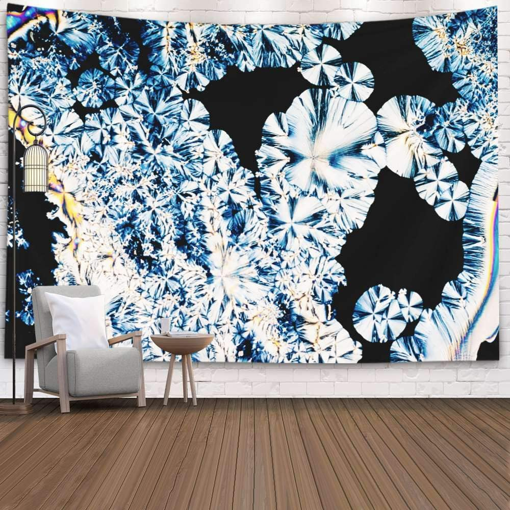 SOAUTY Wall Tapestry, Tapestry Wall Hangings 80X60Inch Colorful Appearance Crystals Acid Vitamin Essential Food Light C Living Room Bedroom Art Tapestry Wall Covering Home Décor,Blue Red