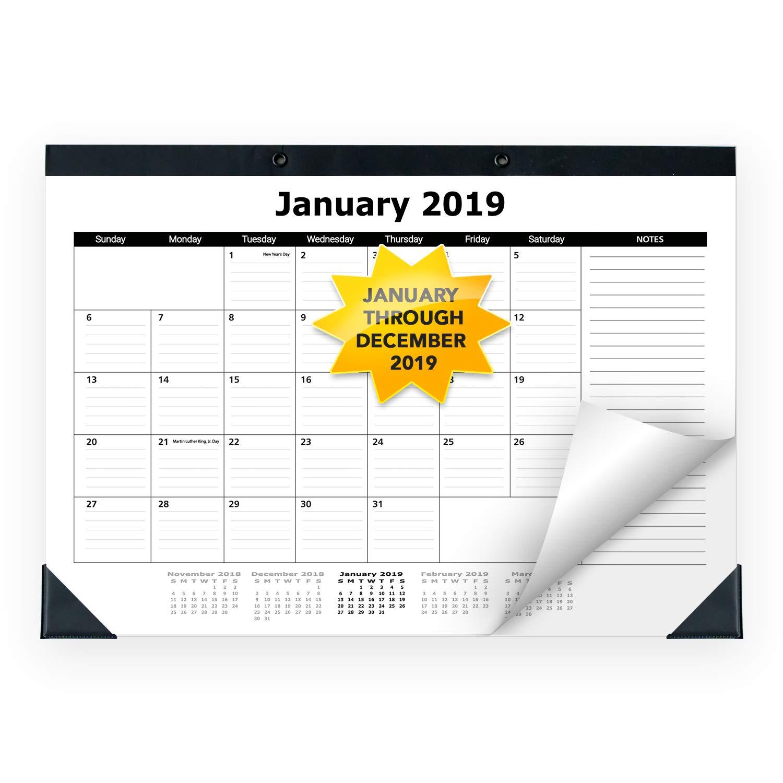 2019 Monthly Desk Pad Blotter Calendar, Classic Design | Wall Hanging | 17' x 12', January - December 2019 (2019, 17' x 12') Classic Design | Wall Hanging | 17 x 12 17 x 12) WallDeca