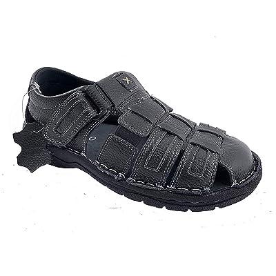 Men's Genuine Leather Sandals Shoes Ultra Comfort Soft Wide | Sandals