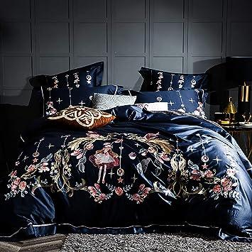 Juego De Ropa De Cama Matrimonio,Luxury Royal Embroidery 100S ...