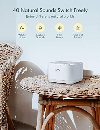 White Noise Machine Roffie Sleep Sound Machine 10 Smooth And Natural Sounds Continuous Or Timer Sleep Machine For Home Baby Nursery Office Dormitory
