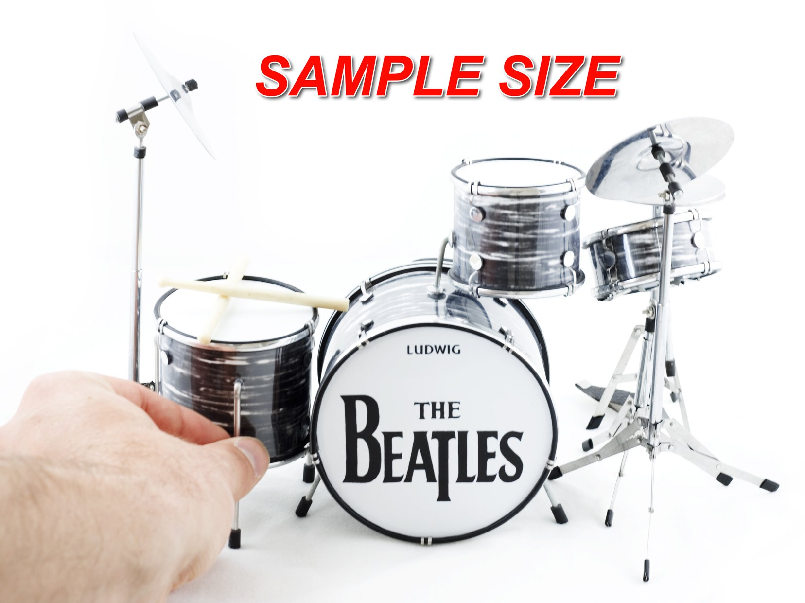 Ringo Starr Beatles Miniature Oyster Drum Set Collectible - DECORATION ONLY by FAN MERCH