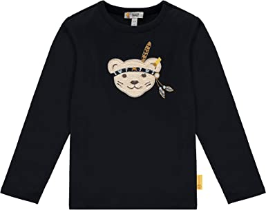 Steiff Baby-Jungen Mit S/ü/ßer teddyb/ärapplikation T-Shirt Langarm