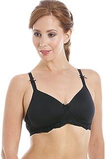 a0ec3af84239e Royce Lingerie Womens Pocketed Moulded Cup Black Mastectomy T-Shirt Bra