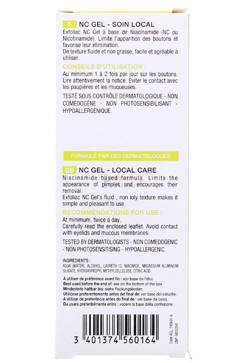 Amazon.com : Noreva Exfoliac Nc Gel Local Care 30ml : Pore ...