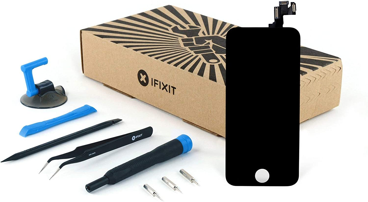 iFixit Screen Replacement Compatible with iPhone 5s - Fix Kit - Black