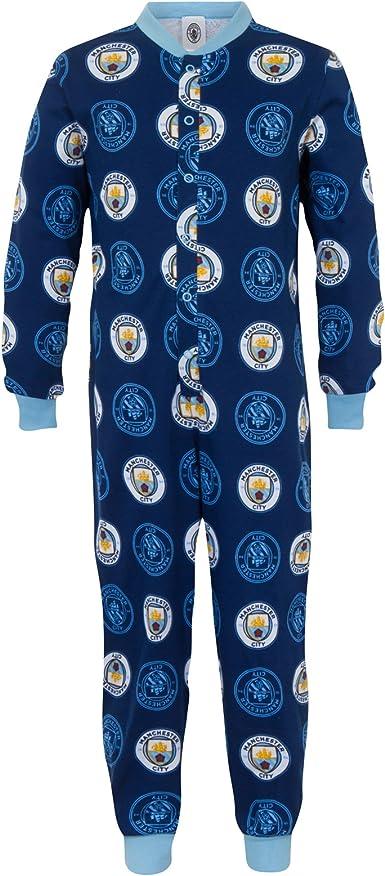 Manchester City FC - Pijama de una pieza para niños ...