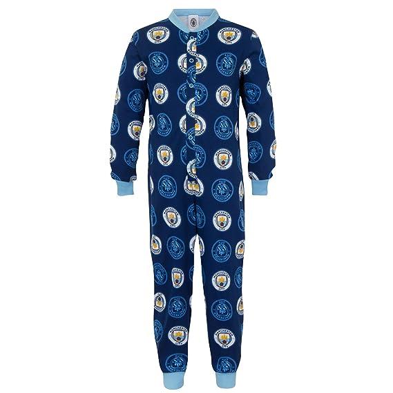 Manchester City Fc Kinder Schlafanzug Overall