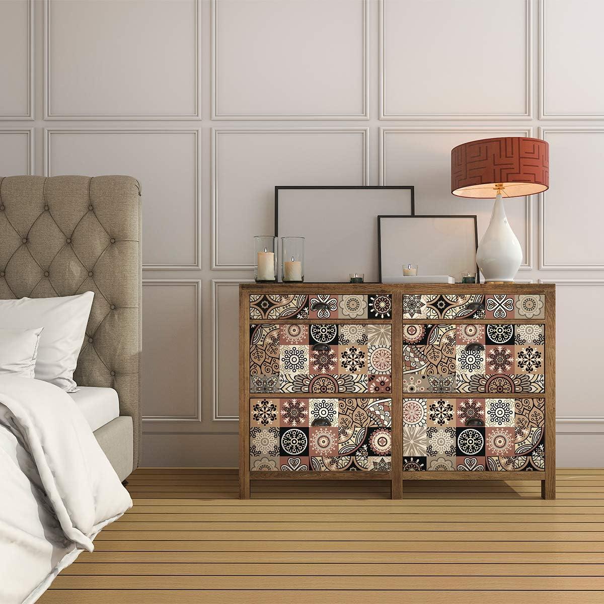 60 x 100 cm Comodini Decorazione per Tavoli Scaffali Adesivo per Mobili| Stickers Design Piastrella Armadi