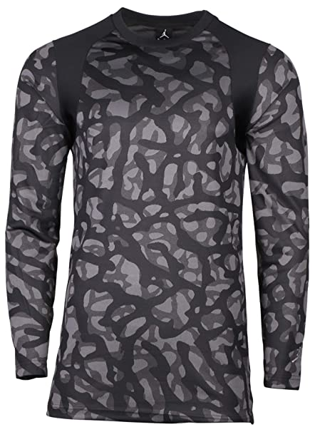 18c956b15a2 Amazon.com   Nike Mens Air Jordan Long Sleeve T Shirt Black Light ...