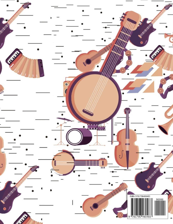Cuaderno de Musica: Libreta de Pentagrama Pautado para Notas de ...