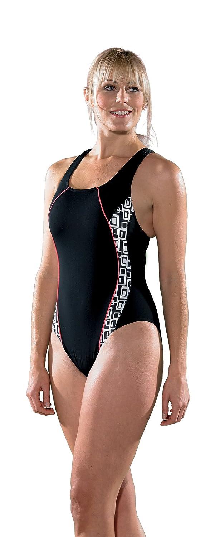 Maru Groove Pacer Panel Badeanzug schwarz - weiß Größe 40