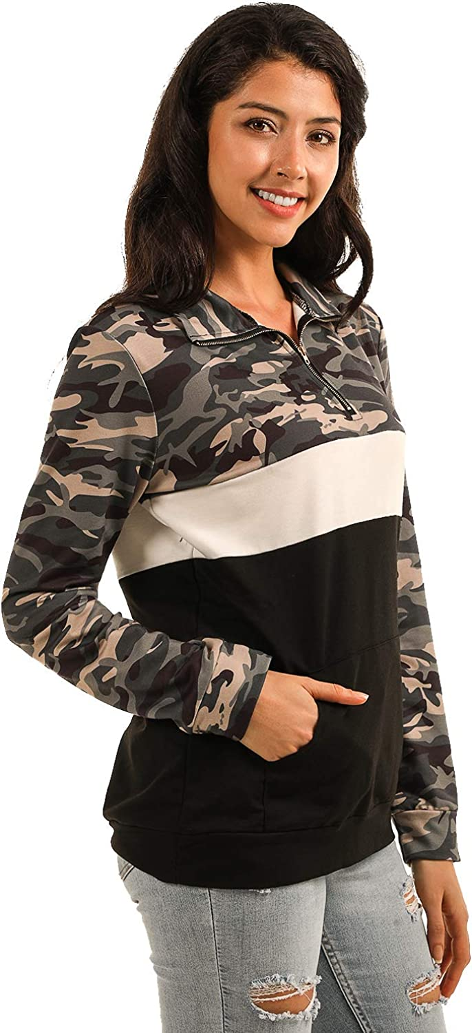 Blooming Jelly Womens Striped Hoodies Color Block Long Sleeve Tunic Sweatshirt Drawstring Jumper Tops with Pockets