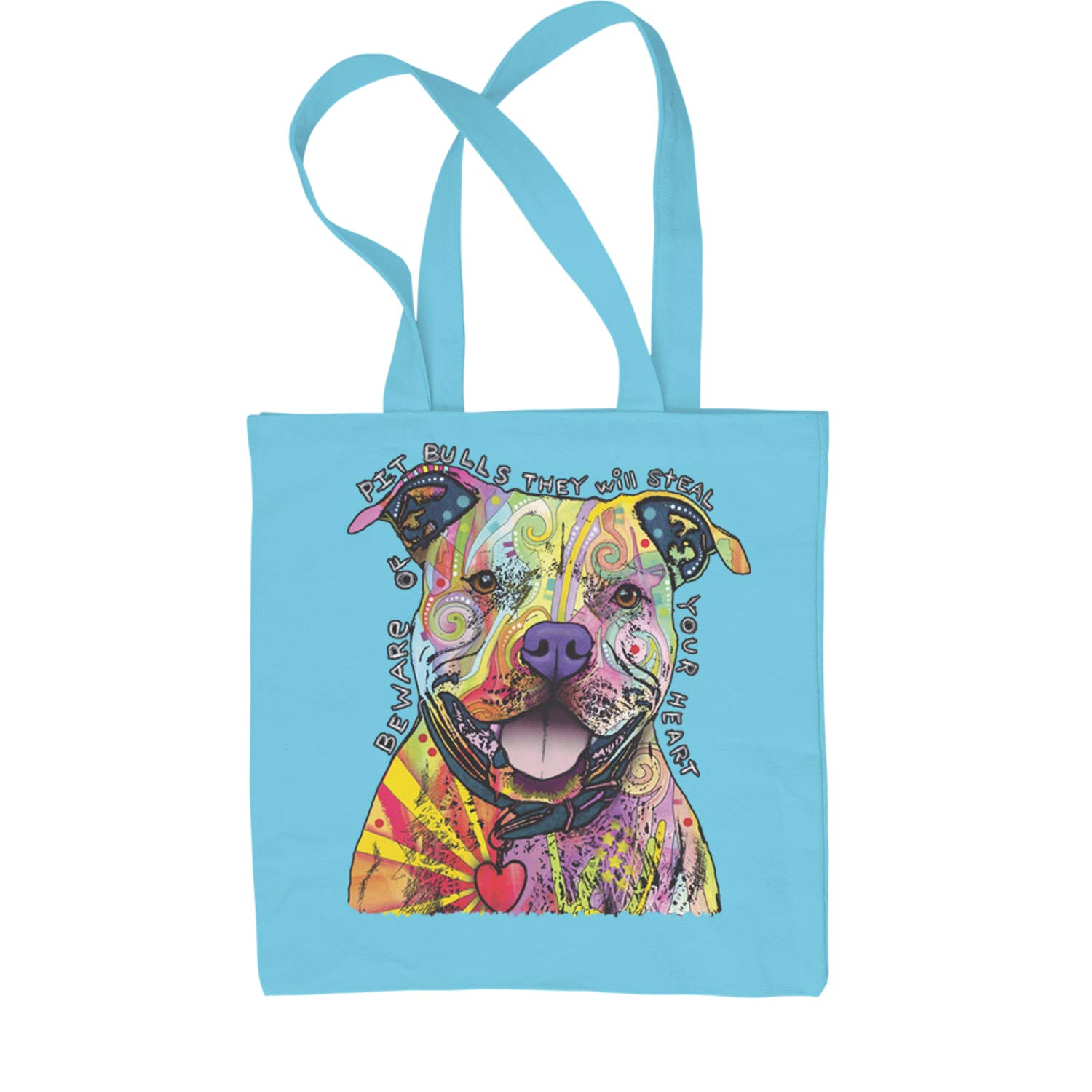Motivated Culture Beware Of Pit Bulls They Will Steal Your Heart Shopping Tote Bag