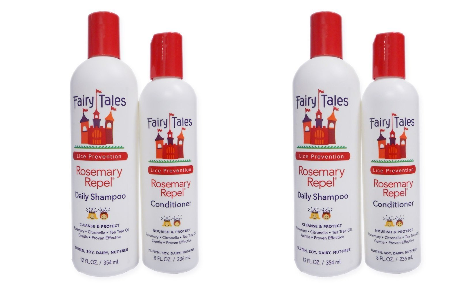 Fairy Tales Rosemary Repel Lice Prevention 12 Ounce Shampoo and 8 Ounce Conditioner Combo by Fairy Tales