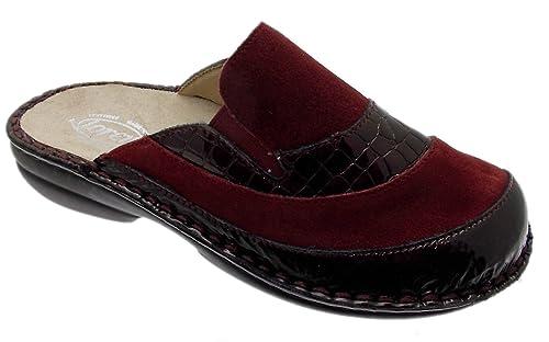 Loren - Zapatillas de Estar por casa para Mujer Rojo Granate: Amazon.es: Zapatos y complementos