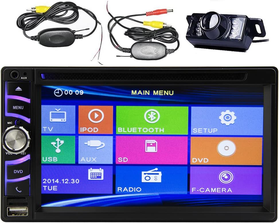 4.1 inch Touch Screen Digital Display Support Bluetooth Mirror Link RDS//FM Radio AUX USB TF Romote Control With Rear View Camera DME4019 YUGUIYUN 1 Din Car Radio Stereo Audio MP5 Player