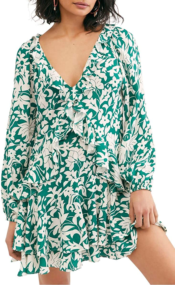 Free People Luxury goods Womens Rebecca Casual Mini Dress Floral Mail order