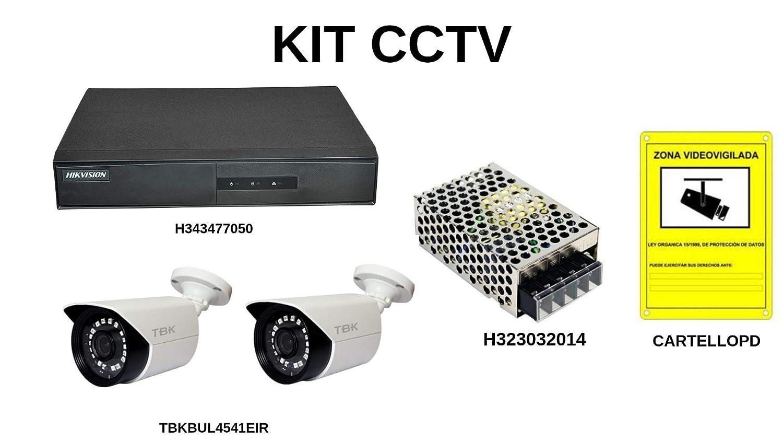 Kit con 2 cámaras de vídeovigilancia para una instalación en ...