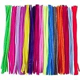 WINOMO 手芸モール 工作モール カラーモール DIY飾り物 15色150本 子供知育玩具