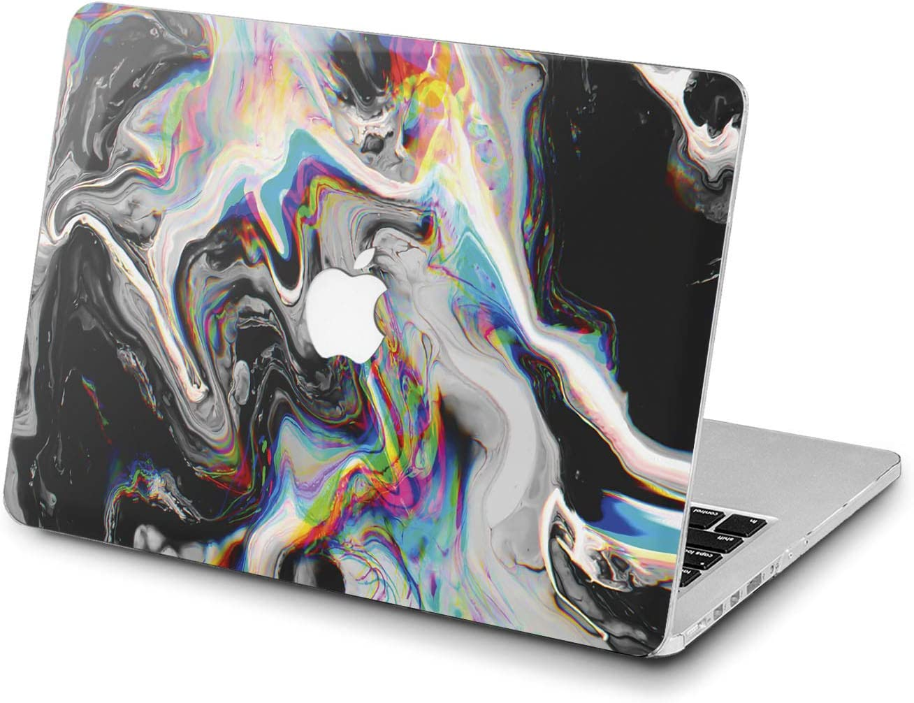 Lex Altern Hard Case for Apple MacBook Pro 15 Air 13 inch Mac Retina 12 11 2020 2019 2018 2017 2016 Abstract Cover Plastic Art Paint Touch Bar Rainbow Black Trippy Women Holographic Shell Glitch
