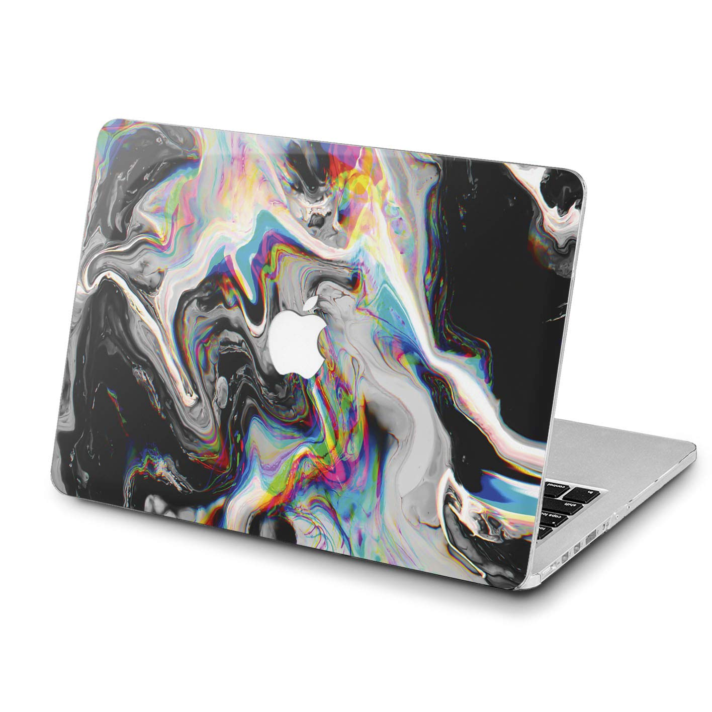 Lex Altern Hard Case for Apple MacBook Pro 15 Air 13 inch Mac Retina 12 11 2019 2018 2017 2016 2015 Abstract Cover Plastic Art Paint Touch Bar Rainbow Black Trippy Women Holographic Shell Glitch by Lex Altern