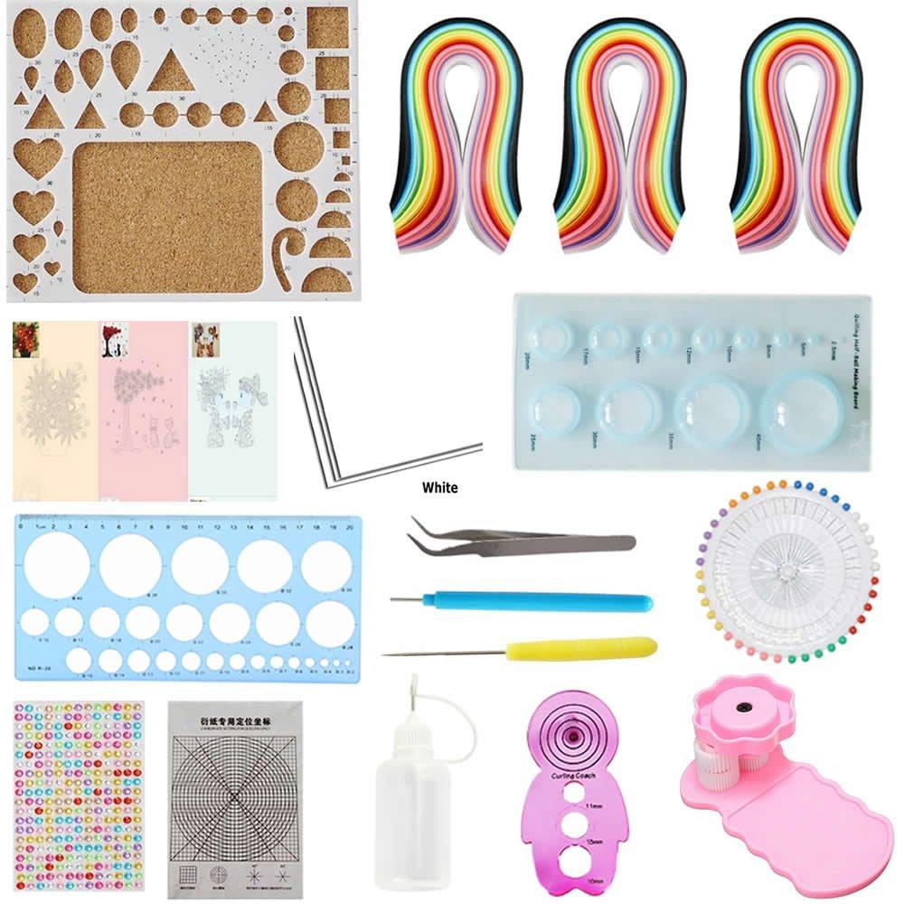 Quilling Kit & Paper Set Küchengeräten/Set 780Blatt Farbe Papier DIY Handwerk Werkzeug Set moumou