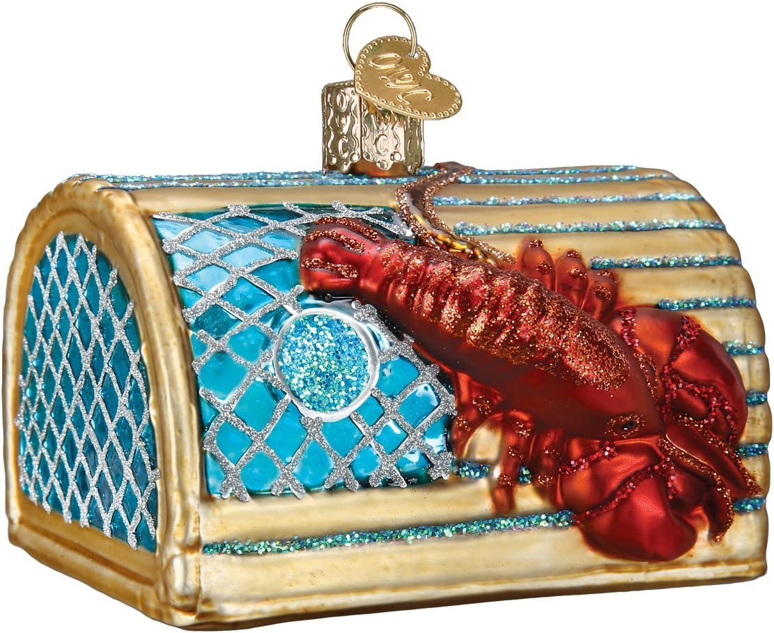 Old World Christmas Crab Glass Blown Ornaments for Christmas Tree Lobster Trap