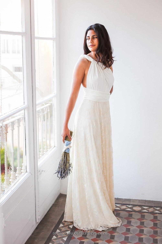 Amazoncom Simple Light Champagne Lace Beach Wedding Dress